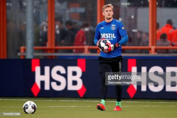 Damil Dankerlui of Willem II Darryl Baly of FC Volendam during the Dutch KNVB Beker match between FC Volendam v Willem II at the Kras Stadium on...