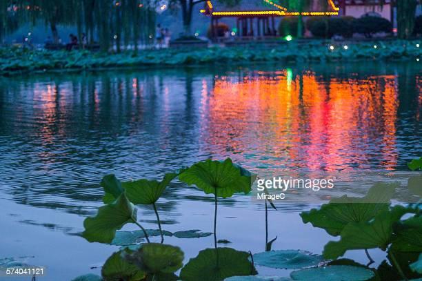 Daming Lake Park Night Scenery in Jinan