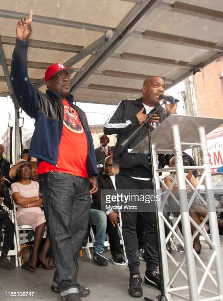 """Damion """"DRoc"""" Butler attend the Notorious B.I.G. Street Naming in Brooklyn New York on June 10, 2019 in Brooklyn, New York. On June 10, 2019 in..."""