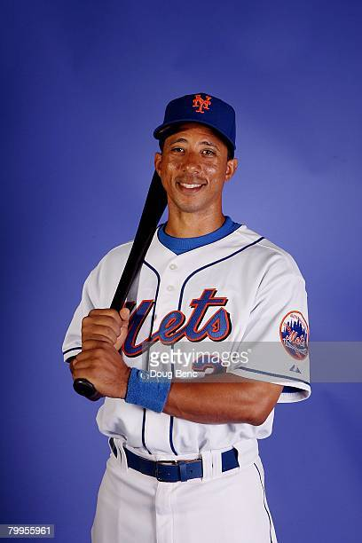 Damion Easley of the New York Mets poses during Spring Training Photo Day at Tradition Field on February 23 2008 in Port Saint Lucie Florida