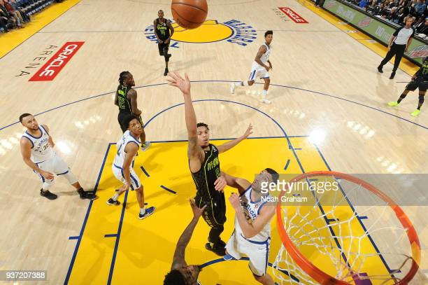 Damion Lee of the Atlanta Hawks shoots the ball against the Golden State Warriors on March 23 2018 at ORACLE Arena in Oakland California NOTE TO USER...