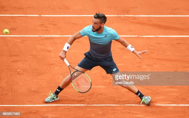 Damir Dzumhur of Bosnia and Herzegovina during Day Six of the 2018 French Open at Roland Garros on June 1 2018 in Paris France