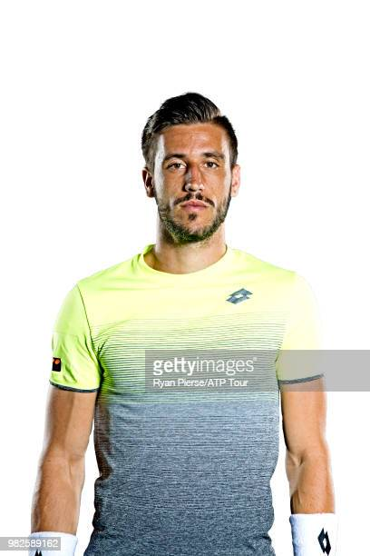 Damir Dzumhur of Bosnia and Herzegovina poses for portraits during the Australian Open at Melbourne Park on January 12 2018 in Melbourne Australia