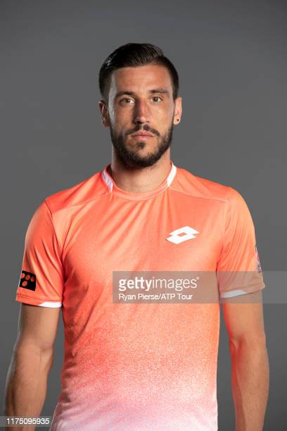 Damir Dzumhur of Bosnia-Herzegovina poses for his official portrait at the Australian Open at Melbourne Park on January 10, 2019 in Melbourne,...