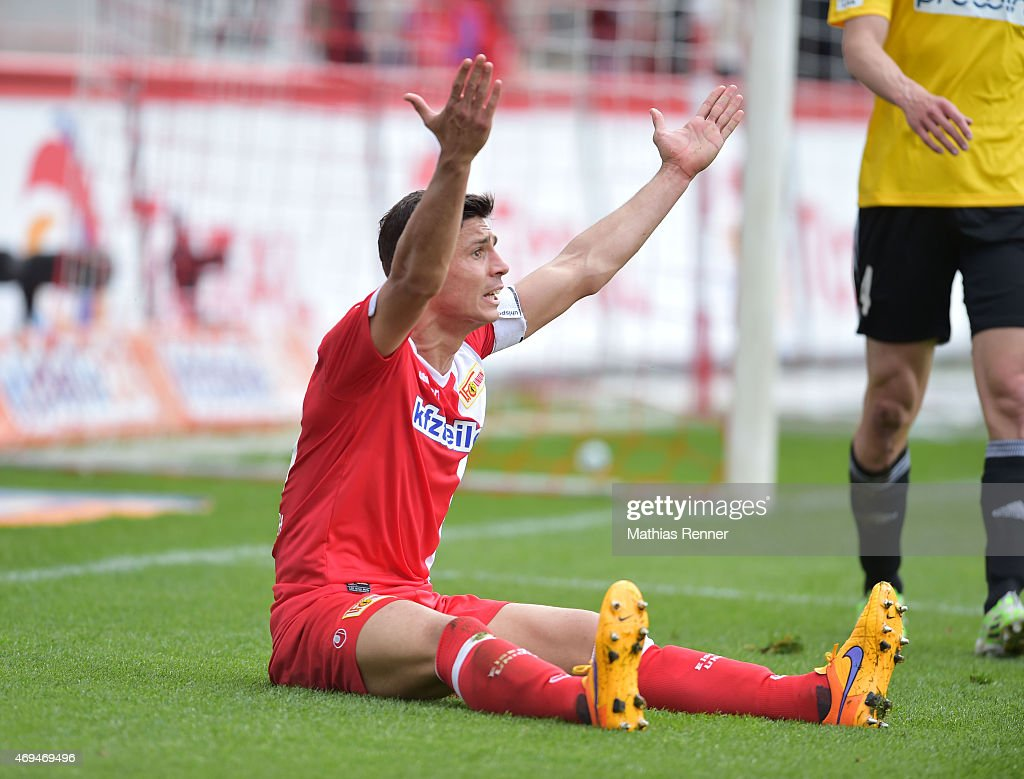 Damir Kreilach of 1 FC Union Berlin during the game between Union Berlin and VfR Aalen on april 12, 2015 in Berlin, Germany.
