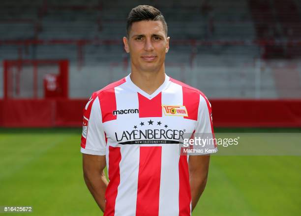 Damir Kreilach of 1 FC Union Berlin poses during the team presentation at Stadion an der Alten Foersterei on July 17 2017 in Berlin Germany