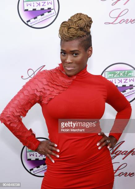 Damita Chandler attends Agape Love Red Carpet on January 13 2018 in Milwaukee Wisconsin