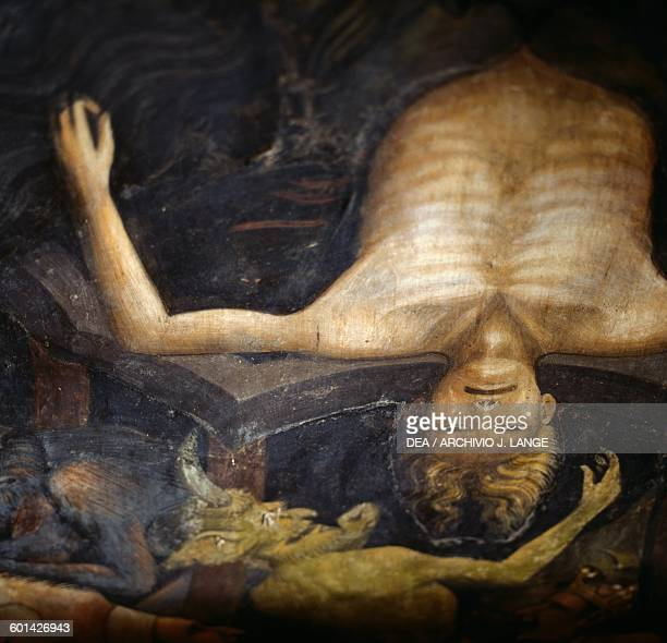 A damn and hell The inferno by Giovanni da Modena detail from the Bolognini chapel Basilica of St Petronio Bologna Italy 15th century