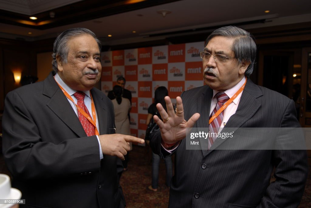 M Damodaran Former Chairman of SEBI and K C Chakrabarthy CMD of Punjab National Bank speak after the MINT Clarity through Debate Conclave in Mumbai