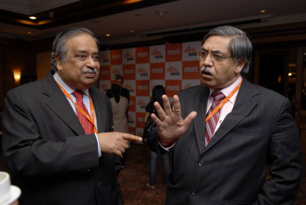 M Damodaran Former Chairman of SEBI and K C Chakrabarthy CMD of Punjab National Bank speak after the MINT Clarity through Debate Conclave in Mumbai