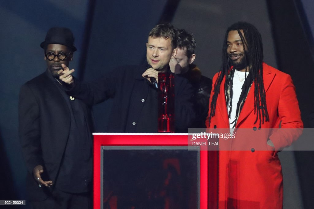 BRITAIN-ENTERTAINMENT-MUSIC-AWARD-BRITS : Nachrichtenfoto