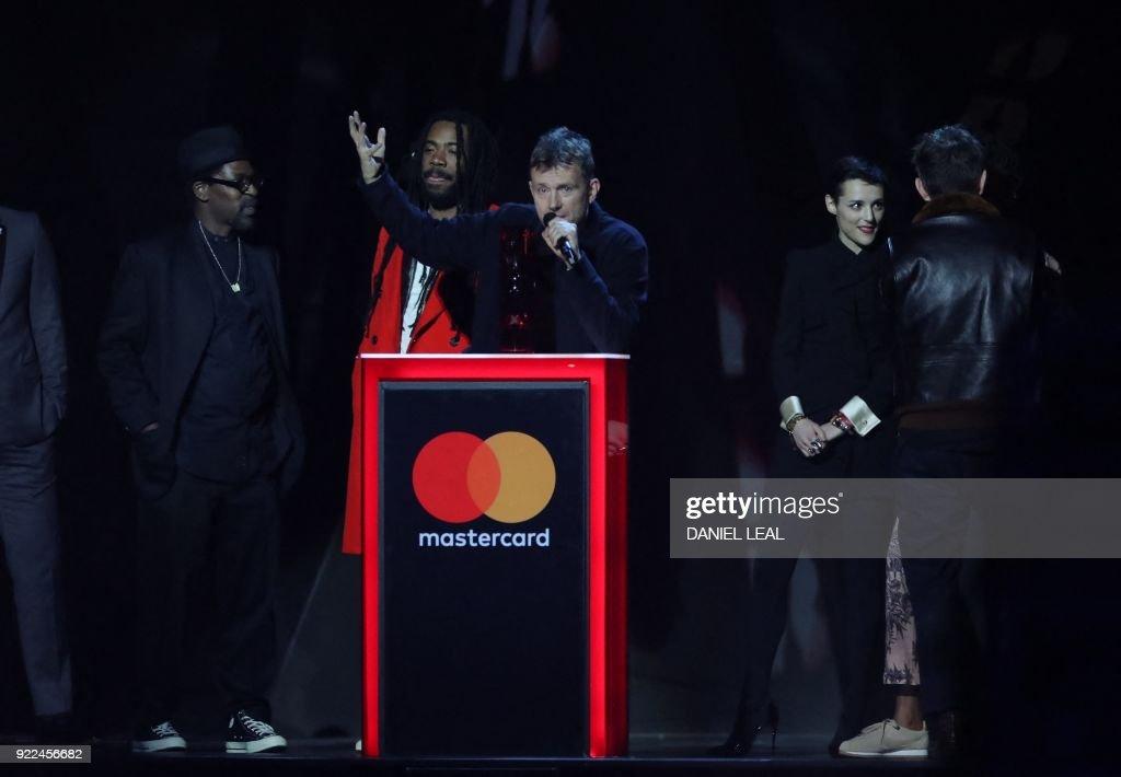 BRITAIN-ENTERTAINMENT-MUSIC-AWARD-BRITS : Fotografía de noticias