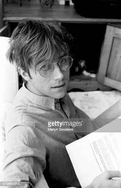 Damon Albarn at record producer Stephen Street's house London United Kingdom 1995