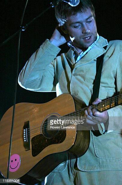 Damon Albarn during Blur In Concert Wolverhampton November 25 2003 at Wolverhampton Civic Hall in Wolverhampton Great Britain