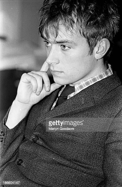 Damon Albarn of Blur at the NME offices in London United Kingdom 1992