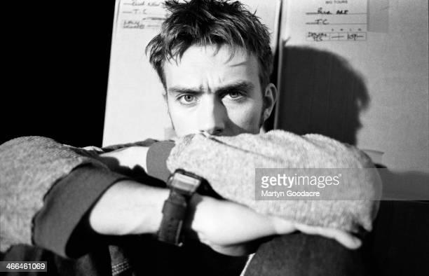 Damon Albarn of Blur backstage at Wembley Arena London United Kingdom 1995