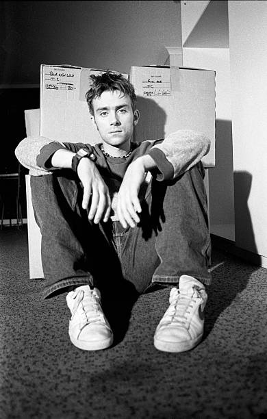 Damon Albarn Blur Backstage Wembley Arena 1995