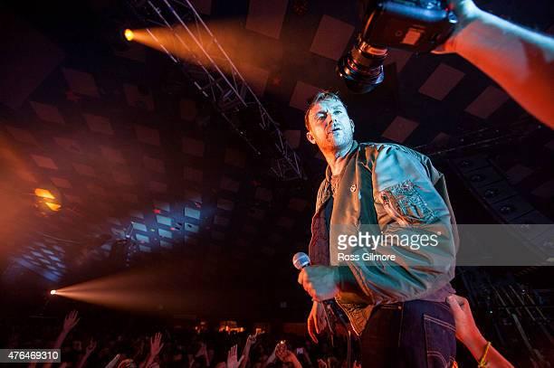 Damon Albarn of Blur performs at Barrowlands Ballroom on June 9 2015 in Glasgow United Kingdom