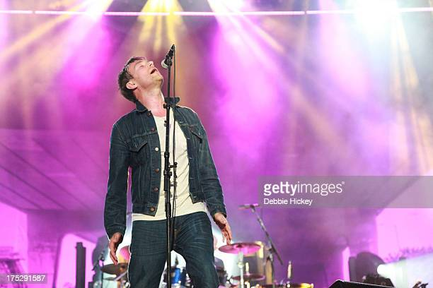 Damon Albarn of Blur performs at Royal Hospital Kilmainham on August 1 2013 in Dublin Ireland