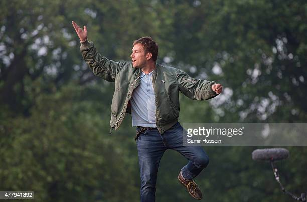 Damon Albarn of Blur performs live at the British Summer Time 2015 at Hyde Park on June 20 2015 in London England