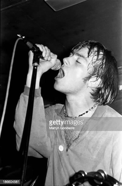 Damon Albarn of Blur performs on stage London United Kingdom 1990