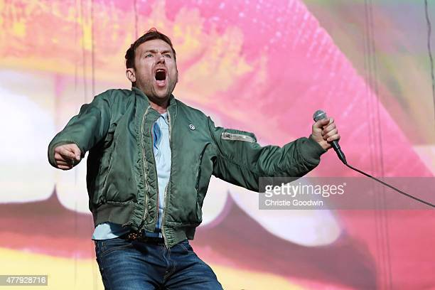 Damon Albarn of Blur performs on stage on day two of British Summer Time 2015 at Hyde Park on June 20 2015 in London United Kingdom