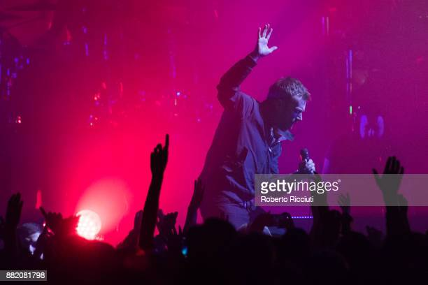 Damon Albarn of Gorillaz performs at The SSE Hydro on November 29 2017 in Glasgow Scotland