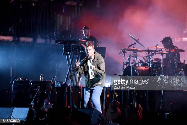 Damon Albarn of Gorillaz performs onstage during day 2 of The Meadows Music Arts Festival at Citi Field on September 16 2017 in New York City
