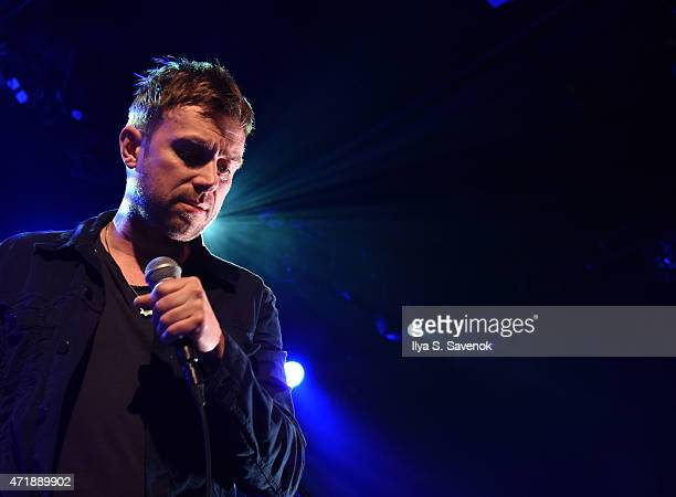 Damon Albarn of the band Blur performs at Converse Rubber Tracks Live Presents Blur In Concert at Music Hall of Williamsburg on May 1 2015 in the...