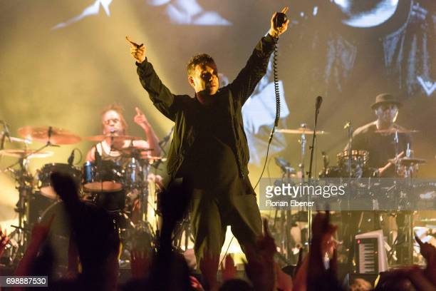Damon Albarn of the band Gorillaz performs on stage at the Palladium on June 20 2017 in Cologne Germany