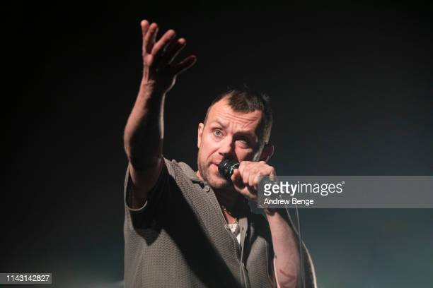Damon Albarn of The Good The Bad And The Queen perform on stage at Albert Hall on April 16 2019 in Manchester England