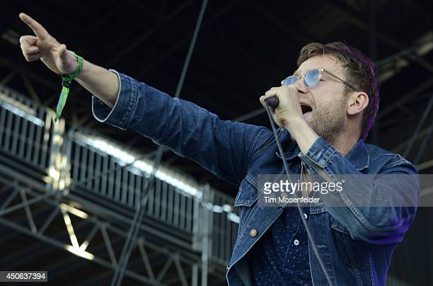 Damon Albarn performs during the performs during the 2014 Bonnaroo Music Arts Festival on June 14 2014 in Manchester Tennessee