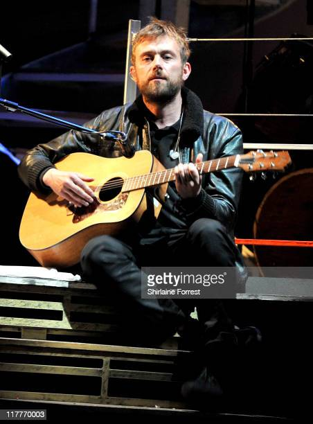 Damon Albarn performs on the preview night of Damon Albarn's opera 'Dr Dee' at Manchester Palace Theatre on June 30 2011 in Manchester England