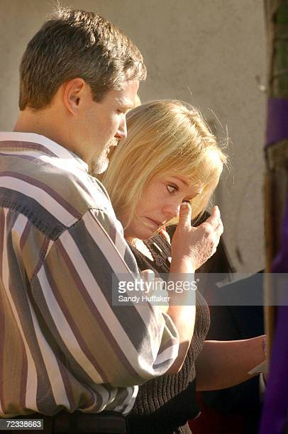 Damon and Brenda van Dam speak during a press conference at their home February 26 2002 in the Sabre Springs section of San Diego CA The van Dams are...