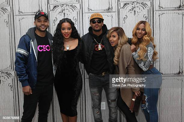 """Damon """"Boogie"""" Dash, Angela Simmons, Romeo Miller, Kristina DeBarge and Egypt Criss attend AOL BUILD series: """"Growing Up Hip Hop"""" at AOL Studios In..."""