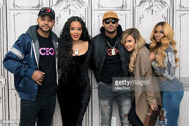 """Damon 'Boogie' Dash, Angela Simmons, Romeo Miller, Kristina DeBarge and Egypt Criss attend the AOL BUILD Series: """"Growing Up Hip Hop"""" at AOL Studios..."""