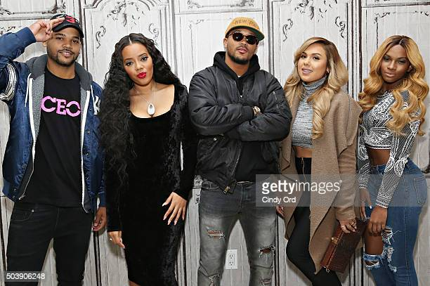 """Damon 'Boogie' Dash, Angela Simmons, Romeo Miller, Kristinia DeBarge and Egypt Criss take part in AOL BUILD Series: """"Growing Up Hip Hop"""" at AOL..."""