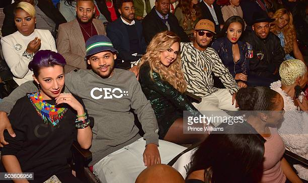 """Damon """"Boogie"""" Dash, Kristina Debarge, Romeo Miller, Angela Simmons, TJ Mizell and Egypt Criss attend the ATL Premiere Of WE Tv's """"Growing Up Hip..."""