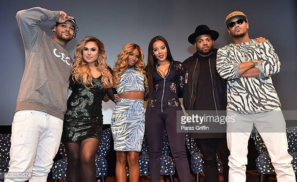 """Damon """"Boogie"""" Dash, Kristinia DeBarge, Egypt Criss, Angela Simmons, TJ Mizell, and Romeo Miller attend """"Growing Up Hip Hop"""" Atlanta premiere at..."""