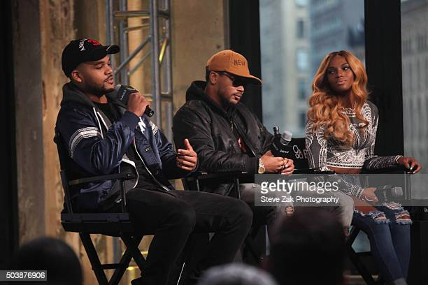 """Damon """"Boogie"""" Dash, Romeo Miller and Egypt Criss attend AOL BUILD series: """"Growing Up Hip Hop"""" at AOL Studios In New York on January 7, 2016 in New..."""