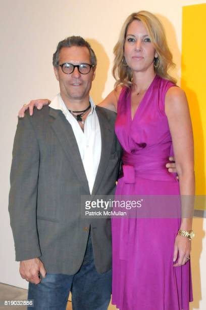 Damon Brandt and Sarah Hasted attend JULIAN FAULHABER's Artist Reception at Hasted Hunt Kraeutler Gallery on May 6th 2010 in New York City