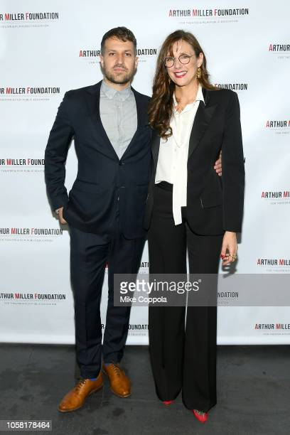 Damon Cardasis and Rebecca Miller attend the 2018 Arthur Miller Foundation Honors at City Winery on October 22 2018 in New York City