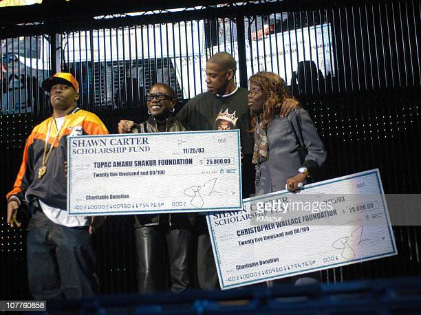 Damon Dash Afeni Shakur mother of Tupac Shakur JayZ and Voletta Wallace mother of Notorious BIG