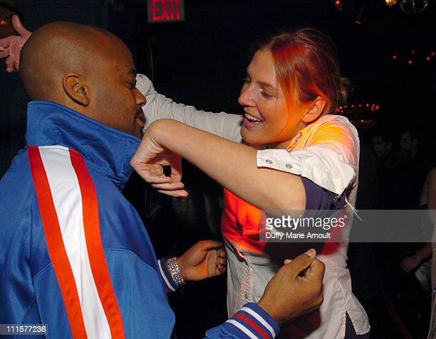 Damon Dash and Bridget Hall during Noel Ashman Rashida JonesDamon DashSamantha RonsonThursday Party at NA Night Club at NA Nightclub in New York City...