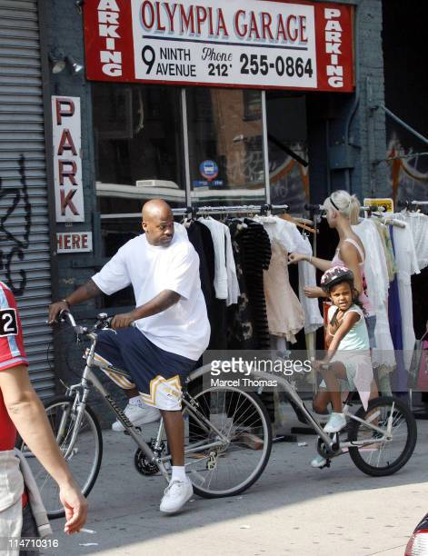 Damon Dash and family during Damon Dash and Family Sighting in the West Village September 17 2006 at West Village in New York City New York United...