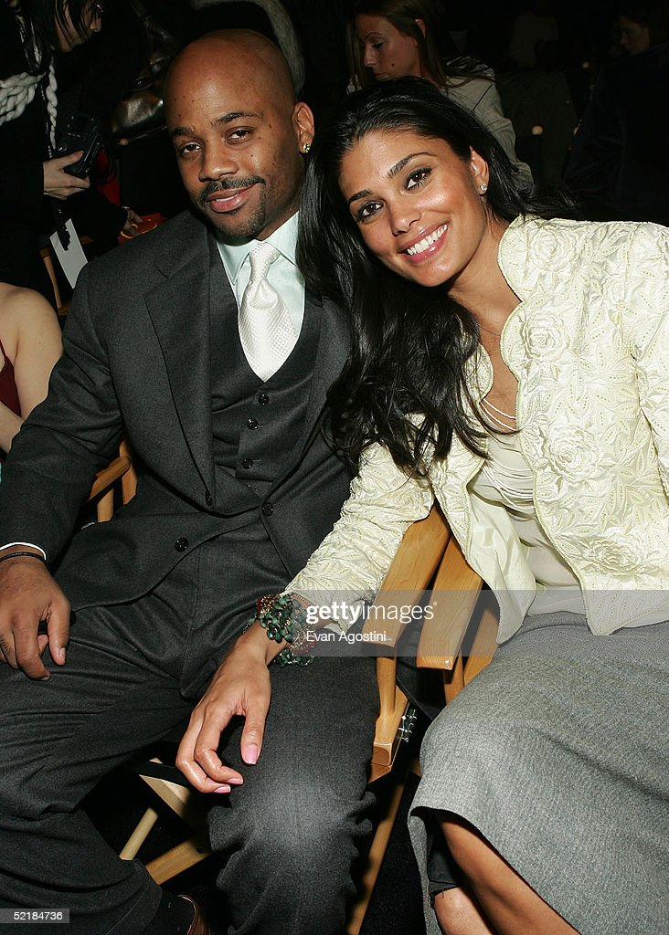Damon Dash and his wife Rachel Roy attend the Jennifer Lopez Fall