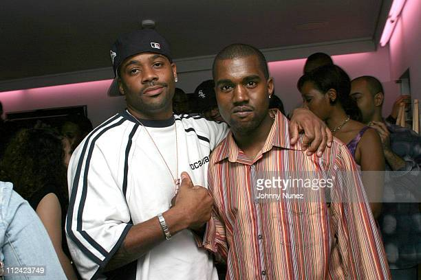 Damon Dash and Kanye West during Kanye West's Album Preview Party at 40/40 in New York City New York United States