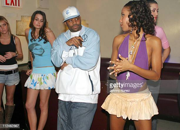 Damon Dash and models during Damon Dash Filming 'State Property 2' at Float March 26 2004 at Float in New York City New York United States