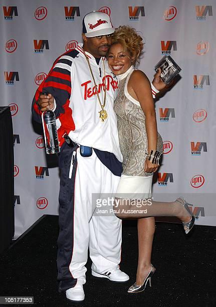 Damon Dash and Paula Jai Parker during 2003 VIBE Awards Pressroom at Civic Auditorium in Santa Monica California United States