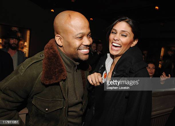 Damon Dash and Rachel Roy during Factory Girl New York Premiere AfterParty at The Chelsea Hotel in New York City New York United States